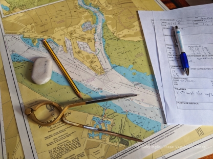 Chartwork and navigation is key part of the Day Skipper syllabus.