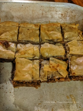 My first attempt at making baklava, when I remembered to take a picture of it.