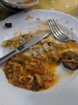 All the best food from The Sound Pantry in Newlyn, especially bacalhau a bras, lulas con nata, arroz de marisco...
